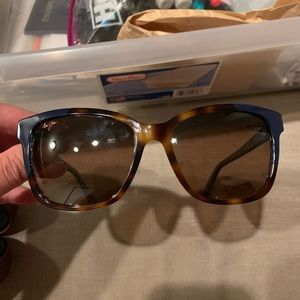 MAUI JIM Tortoise Shell & Navy Blue Sunglasses